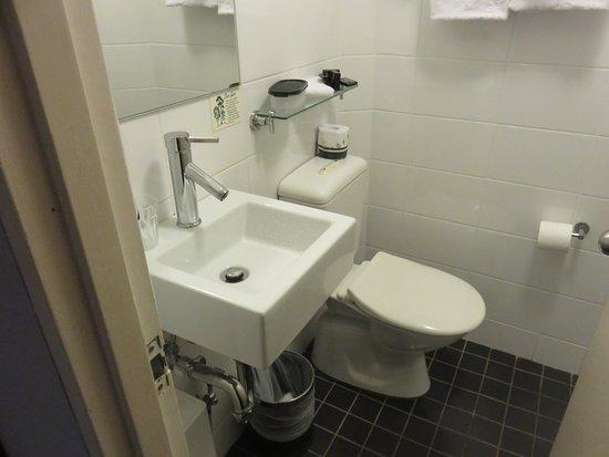 Park Regis City Centre: The small bathroom. Shower behind the door.