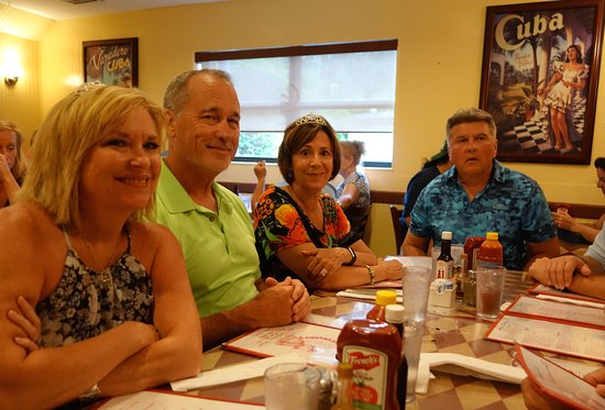 El Siboney Restaurant: Our table at El Siboney