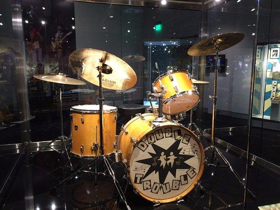 Cleveland, MS: Double Trouble drum set.