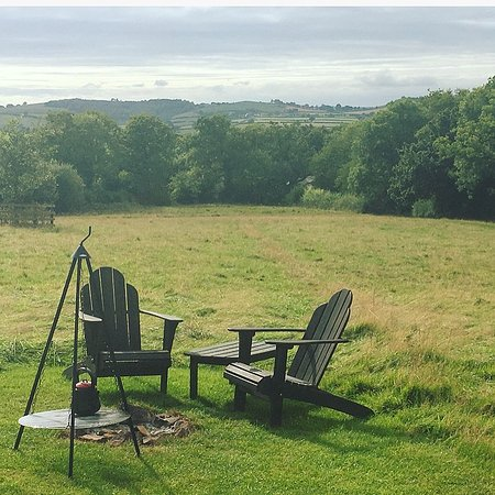 Crediton, UK: The view from the firepit