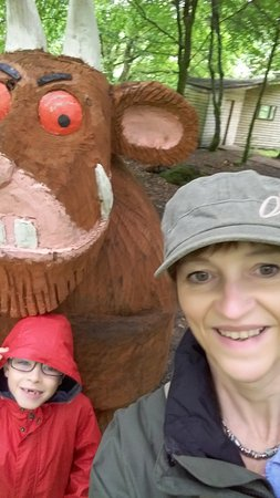 Kielder, UK: Oh help... oh no... it's a Gruffalo!