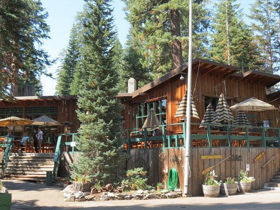 Kit Carson, CA: Deck off the dinning room and lodge