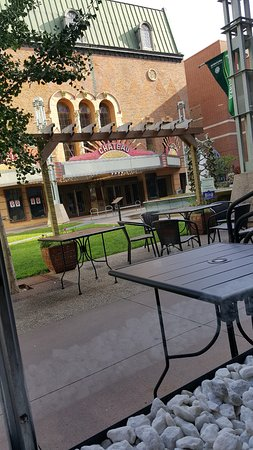 Rochester, MN: famous Chateau Theater is across Peace Plaza