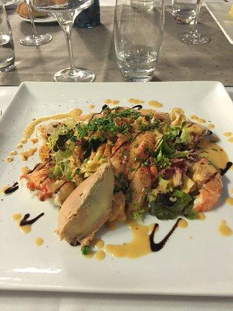 Ammerschwihr, France : Salade au foie gras et homard