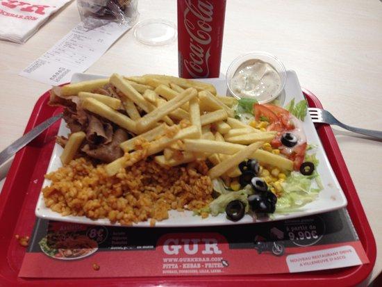 assiette kebab mixte - photo de gur kebab, lezennes - tripadvisor