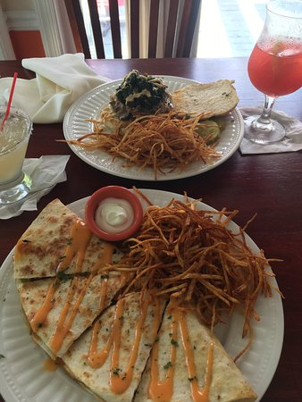 Betterton, MD: Quesadilla of the day and pork sandwich. Delicious!