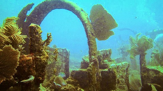 Quiescence Diving Services : Superstructure of the 100 year old rubble wreck USS City of Washington