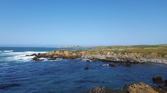 Piedras Blancas Light Station : From Elephant Seal Beach in the Distance