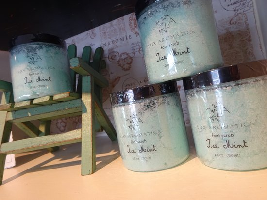 Orange, VA: Lux Aromatica Ice Mint foot scrub at C'ville Soapbox