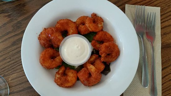 Fishnet: Buffalo fried shrimp: spicy!