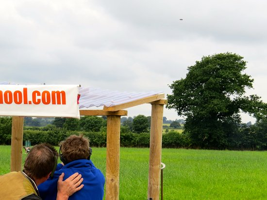 Sturminster Newton, UK: Targets fly over right to left (here), but from a variety of other angles and distances too