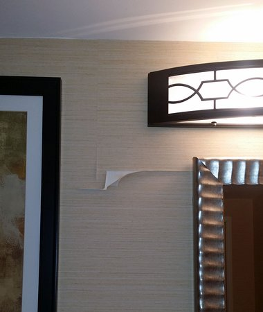 Embassy Suites by Hilton Tampa - Downtown Convention Center : Peeling wallpaper