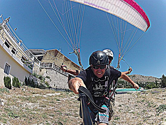 ‪Lefkada Paragliding with Janni at The Big Blue‬