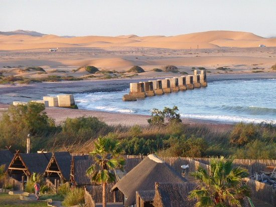 Beach Hotel Swakopmund: The view from the rooms at the front