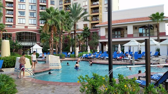 Wyndham Grand Orlando Resort Bonnet Creek: Pool - there are other pools across the lake at other building... separate resorts but you can u