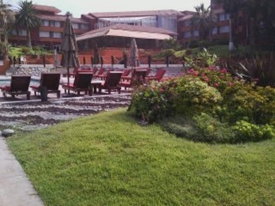 Puerto Nuevo, México: from the pool, looking at the bar area