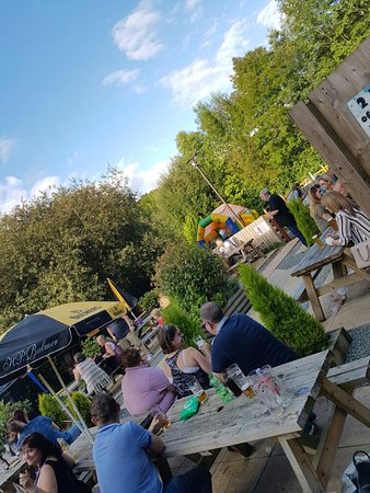 Redditch, UK: Bank holiday Sunday fun. Bouncy castle, live music and bbq. Lots of fun had by all.