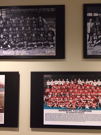 Ashburn, VA: Championship tribute wall.