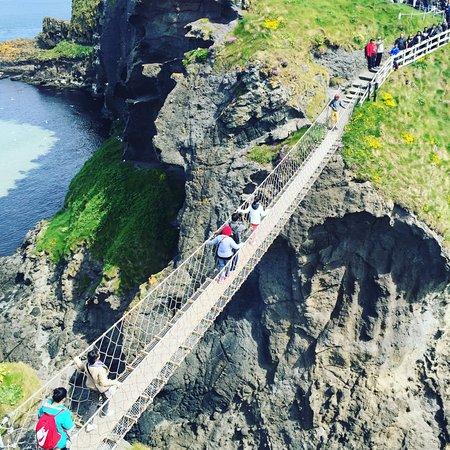 Ballintoy, UK: The rope bridge