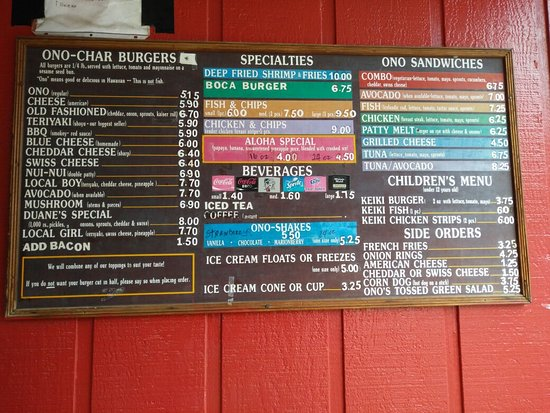 Anahola, Hawaï: Duane's Ono Char-Burger