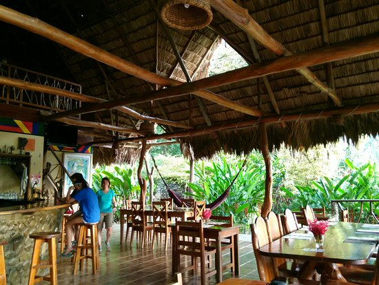 Province of Puntarenas, Costa Rica: The bar/restaurant area is quiet through the day when most guests are on excursions, gets lively
