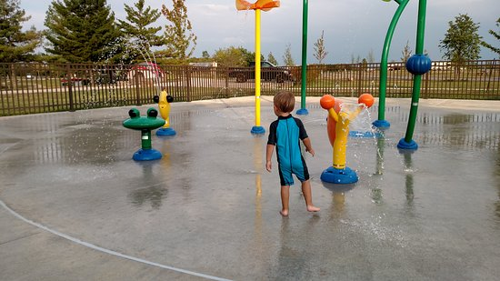 Archbold, OH: View of splash pad at the campground