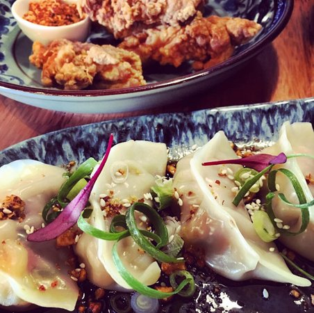DUO Dining Room Bar Chicken And Mushroom Dumplings Chinese Fried