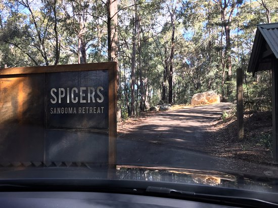 Spicers Sangoma Retreat: Entrance to Spicers
