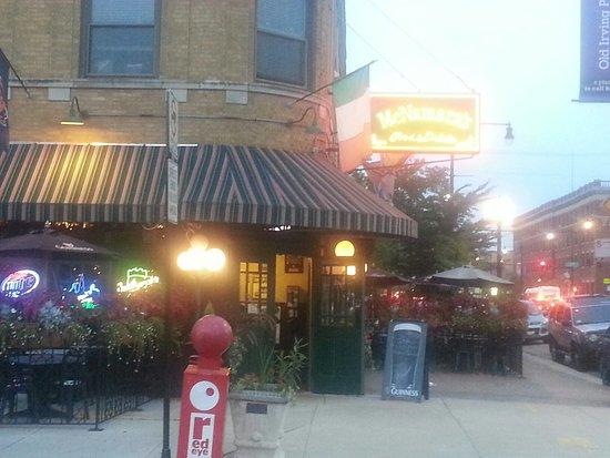 Mcnamara 39 s chicago northwest side menu prices for Irving hotel chicago