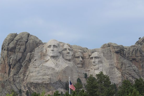 Iron Mountain Road: Mt. Rushmore from Iron Mountain Highway.