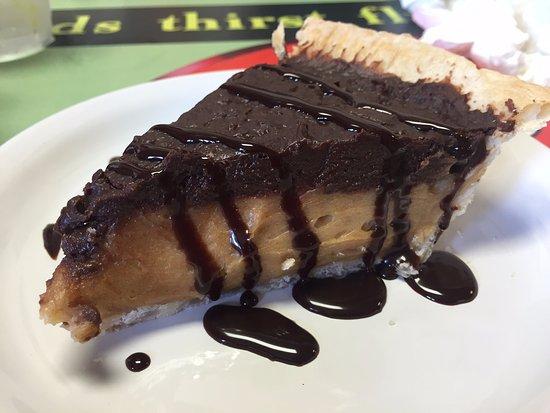 Cottonwood Falls, KS : Chocolate Peanut Butter Pie.
