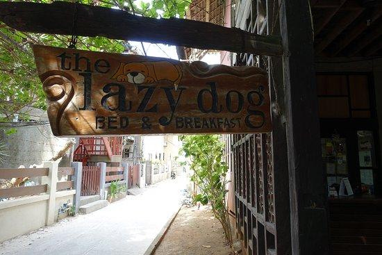 ذا ليزي دوج بد آند بركفاست: 門口(後面那邊一直走過去就是Bulabog海灘)