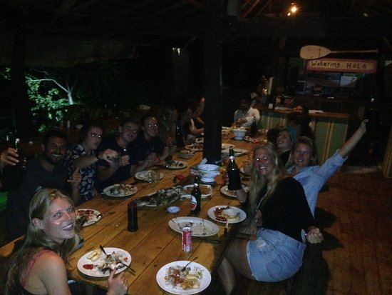 Bira, Indonesia: Party and BBQ fish