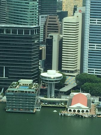 The Fullerton Bay Hotel Singapore: Picture taken from Marina Bay Sands