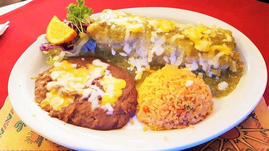 ลาเมซา, แคลิฟอร์เนีย: Chile Verde Burrito Plate