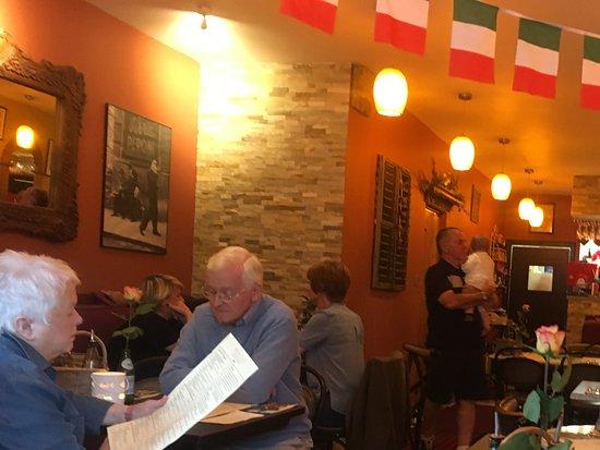 Menai Bridge, UK: Inside Bocca - a warm & friendly greeting awaits you. Aithentically Italian. Food delish !