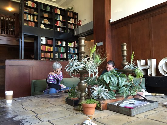 Ace Hotel Portland: The hotel lobby - great for coworking, comes with a library.