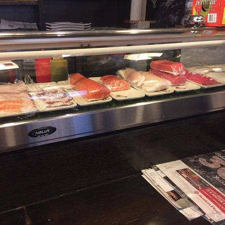 Pearl Sushi: Their showcase of all the fresh fish!