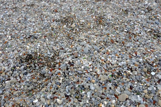 Glass Beach: Various colors of glass