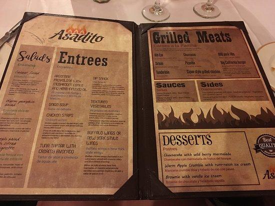 Asadito Restaurant Menu  Picture Of Majestic Elegance Punta Cana