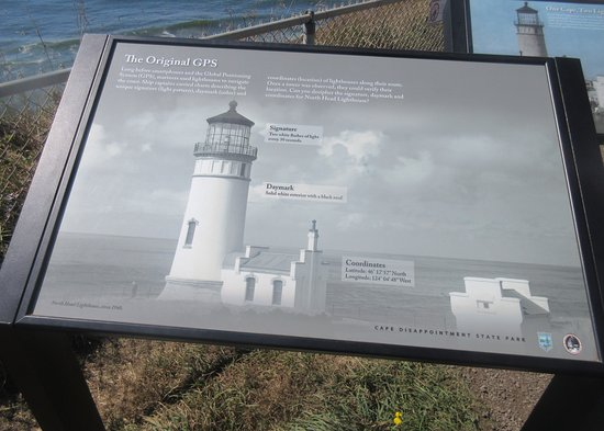 Ilwaco, WA: Info. Sign, North Head Lighthouse, Cape Disappointment, Ilwaca, Washington