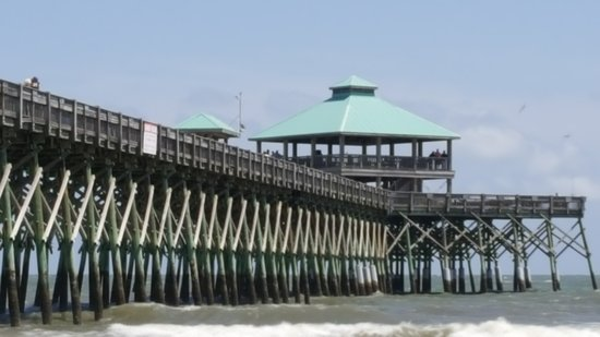 Folly Beach Public Beach: pier