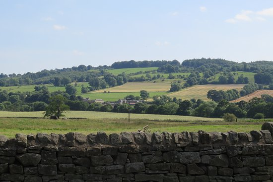Hexham, UK: Looking east along the Tyne valley from Humshaugh