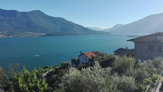 Trezzone, Italie : Aussicht von der Terrasse