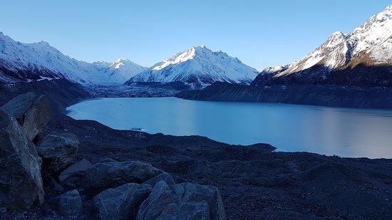 Aoraki Mount Cook National Park (Te Wahipounamu), Neuseeland: View onto the Tasman Glacier