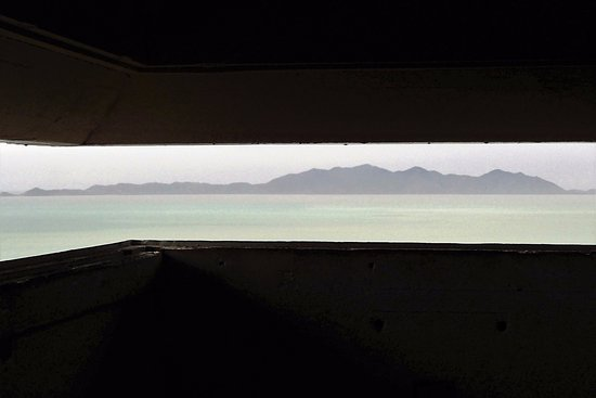 Magnetic Island, Avustralya: Command Post view of approaches to Townsville.