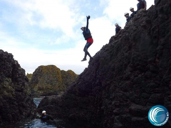 Ballintoy, UK: The first jump!