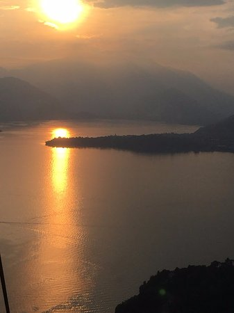 Funivie del Lago Maggiore: tramonto