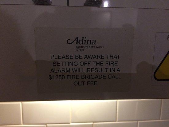 Adina Apartment Hotel Sydney, Central: Dont set the fire alarm off!!!!!!!