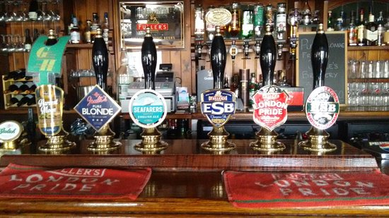 High Wycombe, UK : Always six cask ales available